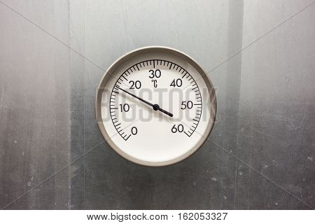 square tube venting pipe with an temperature gauge