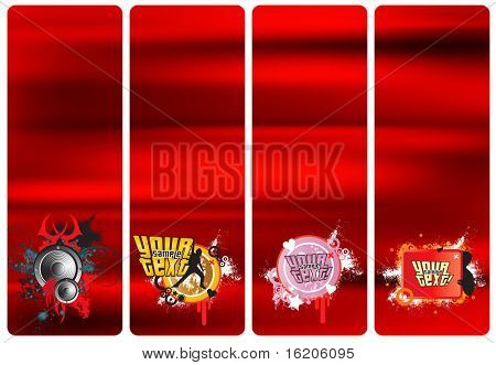 Web stylish banners
