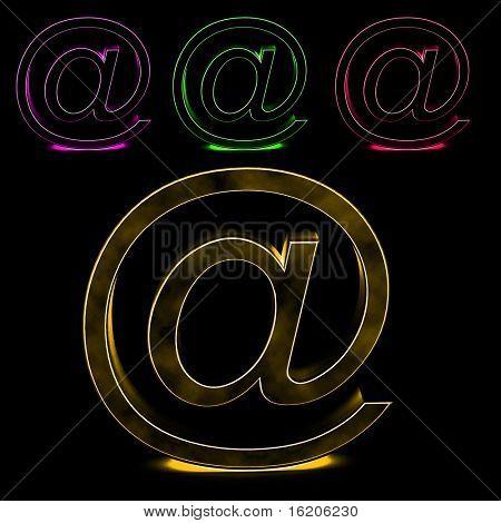 Abstract stylized E-mail symbol
