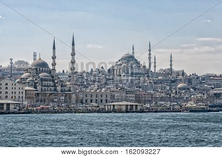 The Suleymaniye Mosque is one of many that dominates the Istanbul skyline.