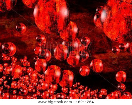 Abstract futuristic bubble background
