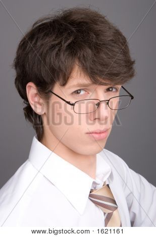 Young Businessman Serious Looking