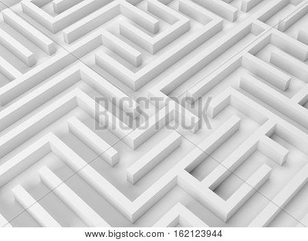 strategy problem decisions 3D illustration complicated maze