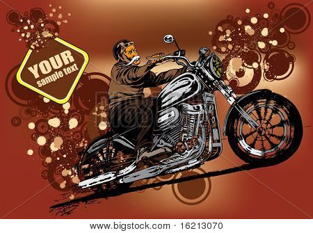 Vector illustration of rider