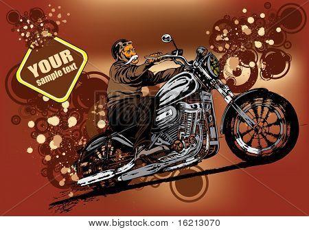 Vector illustration of rider