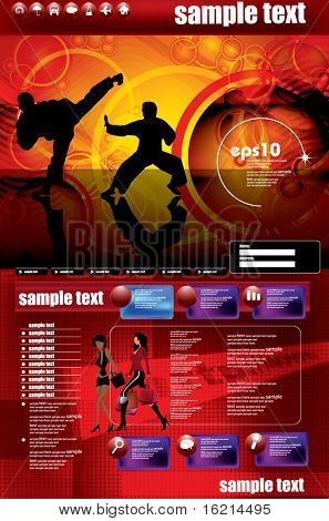 Website design template, sport vector.