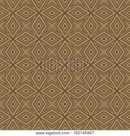 Ethno beige ornamental seamless style pattern design