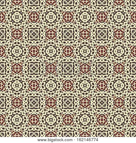 Ornamental seamless ornate boho natural african ethno brown beige pattern