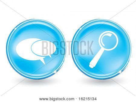 Web buttons set - chat and serch