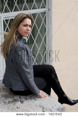 Sentado em um telhado