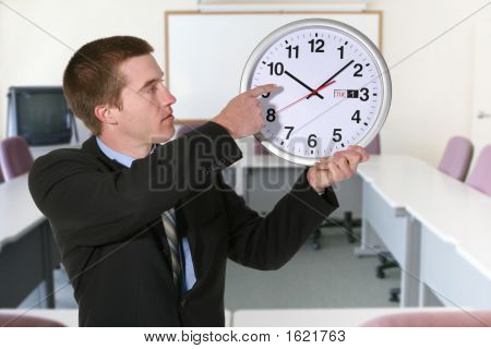 Business Man And Clock