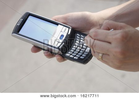 Texting with a PDA phone