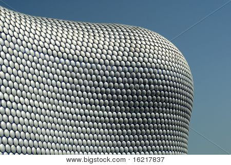 Modern Architectural Marvel - Exterior of shopping mall in Birmingham, England