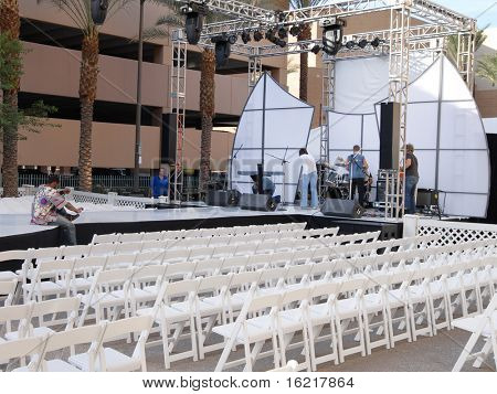 Prepariation For Outdoor Event Fashion Show