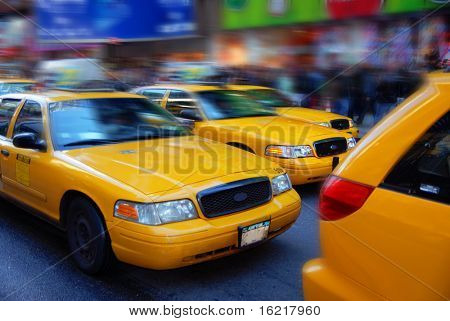 NYC Taxis bei Rush Hour