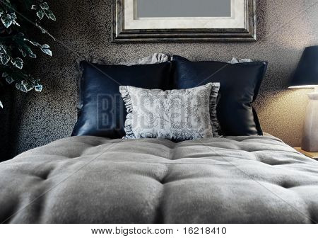 Noir Style Bedroom Interior