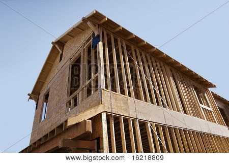 New House Under Constructon Wooden Frame Series