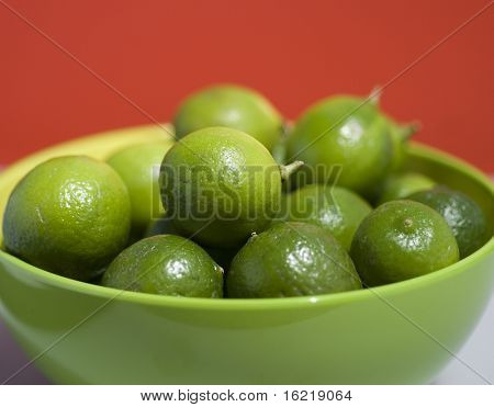 Key Limes in a green bowl