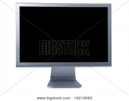 Flat screen Computer Display blue tone
