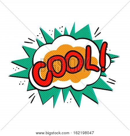 Pop art logo. Pop art cool logo. Retro style poster. Vector pop art illustration. Comic style logo. Pop art comics icon