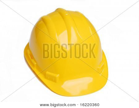 A construction hat isolated over white