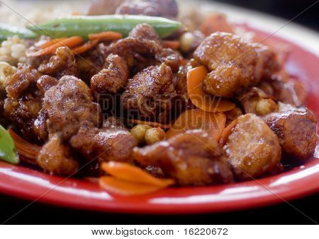 Kung Pao Chicken meal