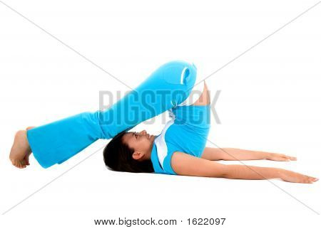 Girl Exercising On The Floor