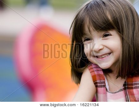 Happy child in park