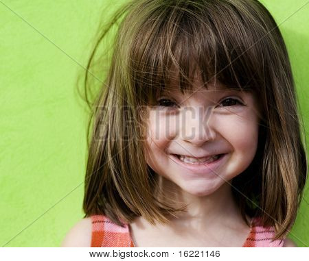 Charming Funny little girl