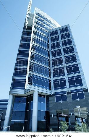 Modern tall building office exterior,