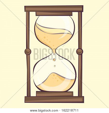 Transparent hourglass illustration sandglass sandclock vector eps10 icon