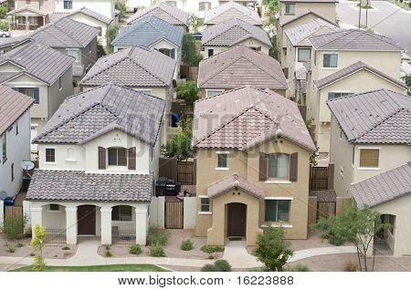 Vista aérea de una zona residencial en la comunidad barrio típico
