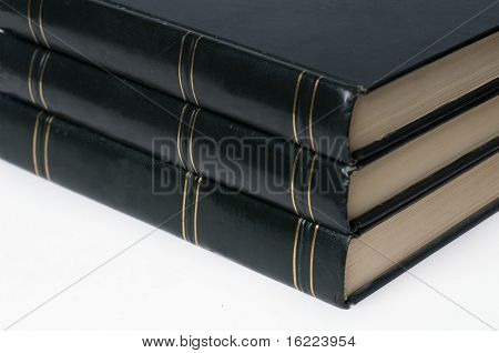 Leather bound hard cover books