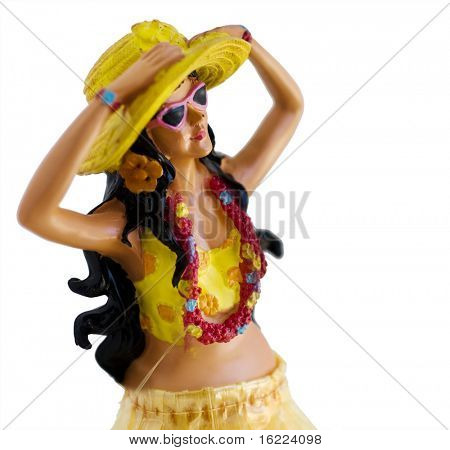 Kitsch novelty Hawaiian Hula Dashboard figure