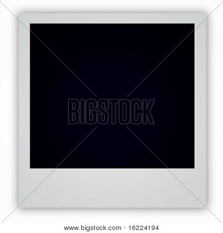 Single, Horizontal Photo Frame, classic instant picture ( with shadow )