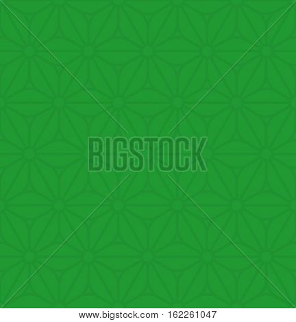 Floral ornament. Green Neutral Seamless Pattern for Modern Design in Flat Style. Tileable Geometric Vector Background.