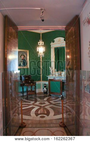 Gatchina, Russia - 3 December, Tower office Maria Feodorovna, 3 December, 2016. Visit the Museum Reserve Gatchina Palace.