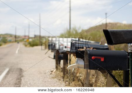 Rural mail boxes in America