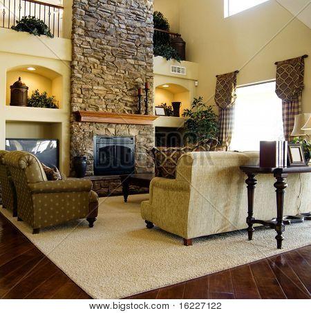 Pisos de madera dura en la sala de estar