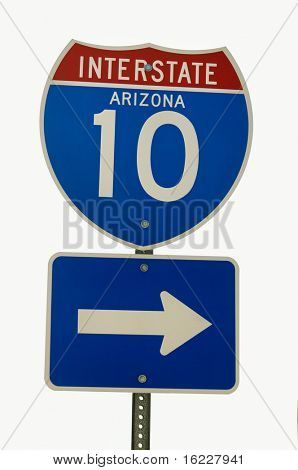Interstate Arizona I10 Road Sign
