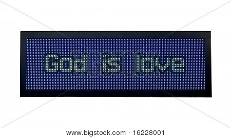 God is love neon road sign