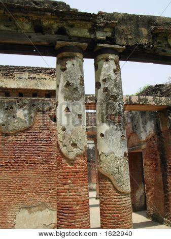 Ruinen des MoneyMuseums britischen Residency in lucknow