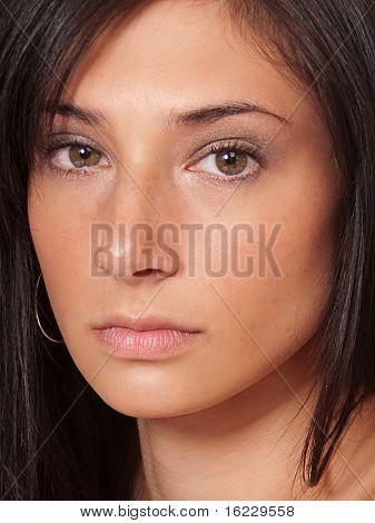 beautiful sad woman having thoughtful look