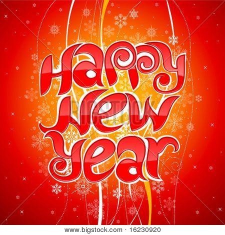 happy new year greeting inscription