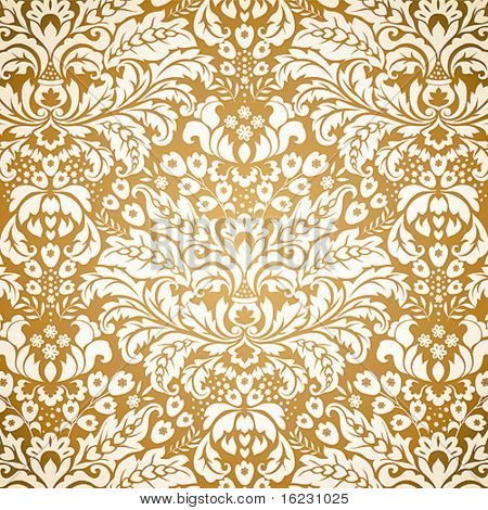 Seamless Damask background pattern. Vector illustration.