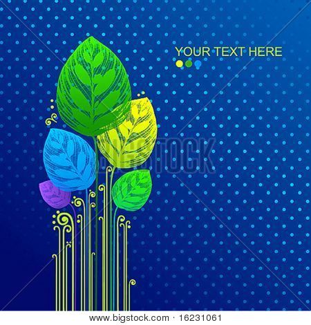 vector openworked leaf background with place for text.