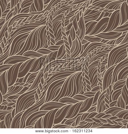 braid hair seamless pattern background