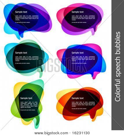 Vektor-Blasen für Rede
