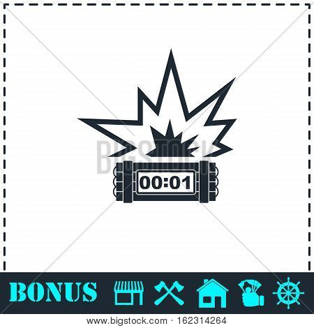 Big Bang Flash icon flat. Simple vector symbol and bonus icon