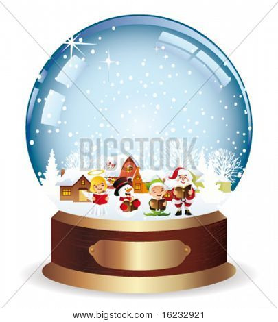 snowglobe with christmas carols